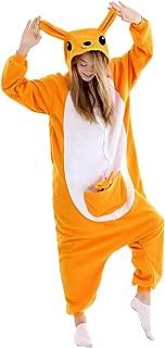 Adult Kangaroo Onesies Pajamas Cosplay Animal Halloween Sleepwear Jumpsuit Costume Women Men