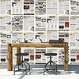 Walplus extraíble autoadhesiva pegatinas Mural de periódico Collage'vintage, 2paquetes de la...
