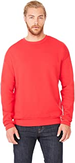 Canvas Men's Classic Soft Style Sweatshirt, Red, X-Small