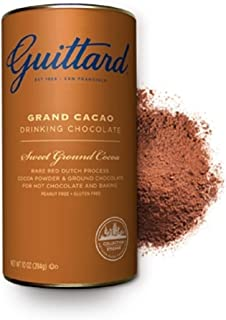 E. Guittard Grand Cacao fine Dutched Drinking Chocolate (3 Pack) with ground chocolate for hot chocolate and baking