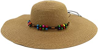 LIWENCUI Wide Brim Sun Hat Straw Hat Summer Seaside Holiday Sun Hat Wild New Sunshade Beach Hat Big Hat (Color : Coffee, Size : 56-58CM)