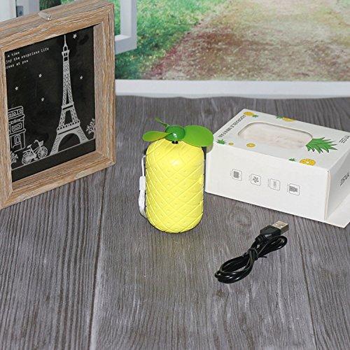 Fishroll ananas USB schattig opladen ventilator Cartoon schattig mini elektriciteit opslag ventilator