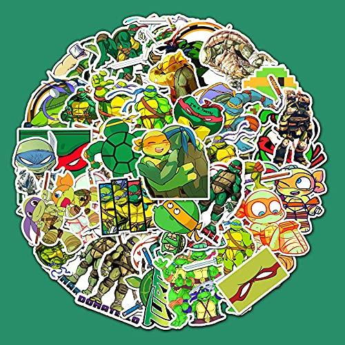 Película Teenage Mutant Ninja Turtles Cartoon Sticker Equipaje Portátil Coche Diy Monopatín Impermeable Pegatina 52 Piezas