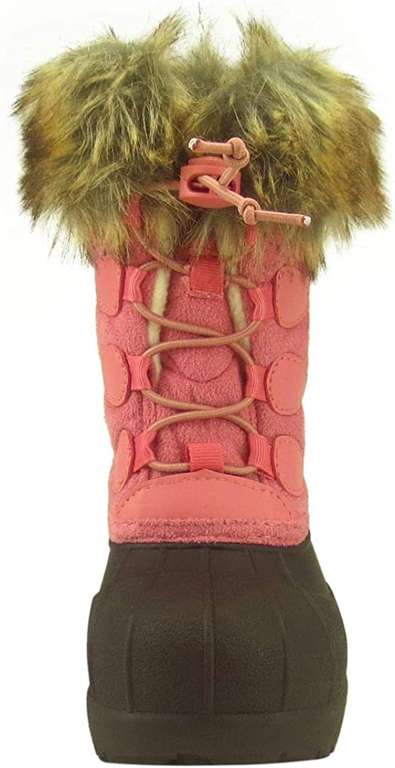 Little Kid//Big Kid The Doll Maker Girls Tall Botton Suede Winter Snow Boot