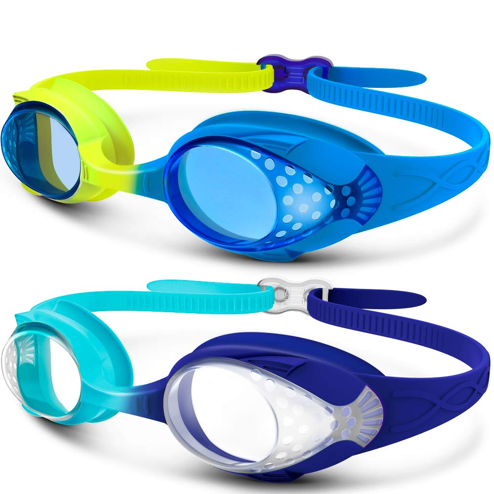 OutdoorMaster Kids Swimming Goggles Shatterproof