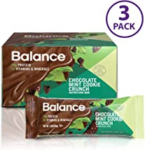 Balance Bar, Healthy Protein Snacks, Chocolate Mint Cookie Crunch, 1.76 oz, Pack of Three 6-Count Boxes
