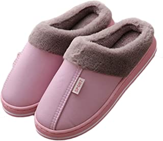 1 Pair Winter Slippers Soft Plush Lined Warm House Shoes for Home Indoor Outdoor