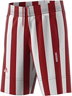adidas Indiana Hoosiers Adult Candy Stripe Shorts - Team Color,
