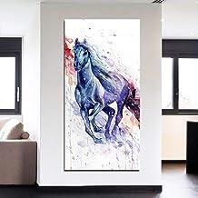 RTCKF HD de Alta definición de impresión de Micro-Jet Sala de Estar Pintura Decorativa murales Acuarela Animal Caballo Pintura Decorativa Moderna sin Marco S2 40cmx80cm