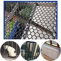 安全ネット 多目的な用途のネット 階段ネット 防護ネット 子供 転落防止網 ネッティングチキンネットを繁殖プラスチックガーデンフェンシングメッシュブラック12ミリメートル家禽 - 工場のための理想的な、ペット、植物の保護及び植物支援ネットクライミング 怪我防止 危険防止 簡単設置 丈夫 取り付けバンド付属 (Color : Black, Size : 1.5x4m)