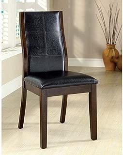 Benjara Benzara , Set of Two, Dark Oak Toronto Transitional Side Chair (Set of 2), Finish