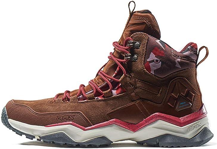 Chaussures de randonnée imperméables à l'usure Usure Absorption des Chocs Chaussures d'extérieur Escalade Chaussures de Marche antidérapantes-marron-42