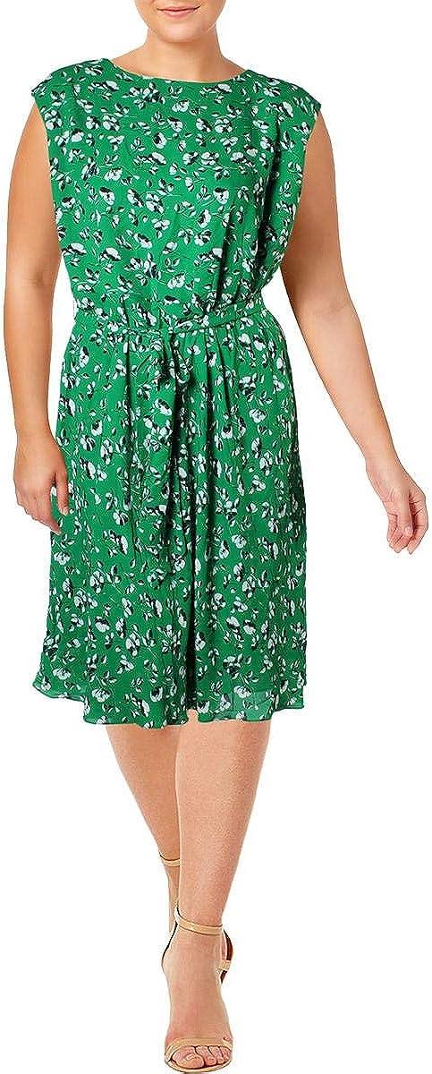 LAUREN RALPH LAUREN Womens Plus Vilodie Floral Print Wear to Work Dress