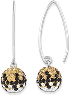 Spirit by Chelsea Taylor Sterling Silver Swarovski Elements New Orleans Spirit Ball Earrings One Size