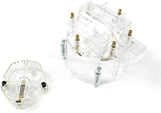 A-Team Performance CR6CL HEI OEM Distributor Cap Rotor and Coil Cover Kit 6 Cylinders Clear