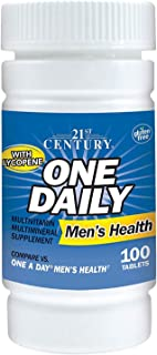 21st Century Men's Health One Daily Multivitamin Multimineral Supplement Tablets - 100 ct, Pack of 3