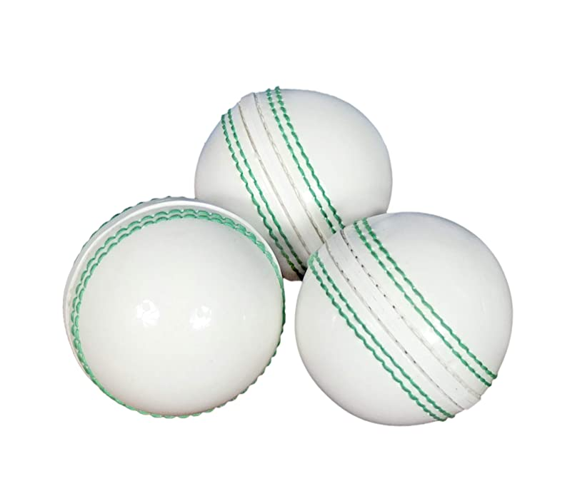 KSZ TRADERS Cricket Rubber Soft Balls for Practice (Set of 3) White
