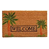 Palm Welcome 17'x29' Coir with Vinyl Backing Doormat
