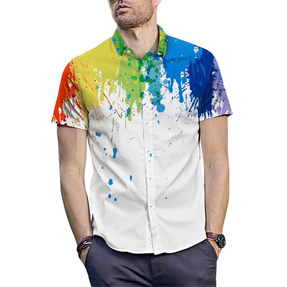 Camisas de vestir para hombre Camisa de vestir de manga corta para hombre Camisa hawaiana tropical