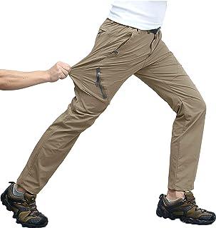 TACVASEN アウトドア 登山パンツ メンズ 速乾ズボン 撥水 クライミングパンツ 通気性 ロングパンツ ゴルフ ストレッチパンツ スリム 4wayストレッチ パンツ 薄手 春夏秋