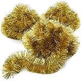com-four® 3X Guirnalda de Navidad - Guirnalda de Abeto decoración de Navidad - Decoración de Navidad para el árbol de Navidad - 270 cm