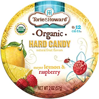 Torie and Howard Organic Hard Candy Lemon and Raspberry, 2 Ounce (Pack of 3)