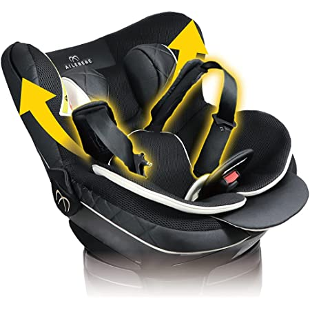 エールベベ チャイルドシート 新生児 から使える ISOFIX 固定 回転型 クルット 6i グランス グランブラック ジャンピングハーネス搭載 BF950