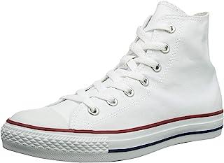 Converse Unisex Chuck Taylor All Star High Top Sneakers Black/White (37-38 M EU / 7 B(M) US Women / 5 D(M) US Men, Optical White)