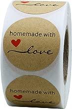 Hybsk Kraft Homemade with Love Stickers 1.5