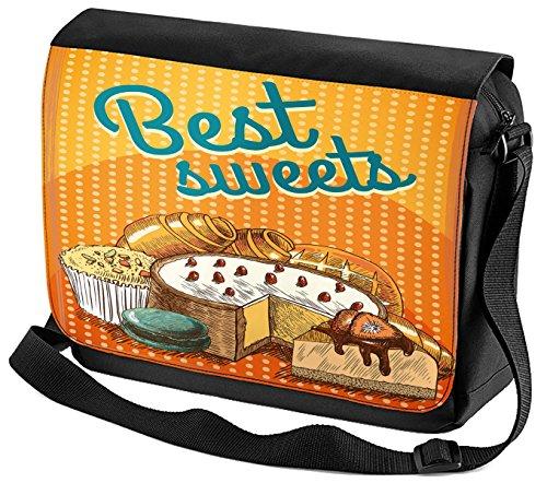 LEotiE SINCE 2004 Umhänge Schulter Tasche Küche Bonbons bedruckt