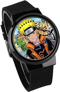 Montres Hommes Personnalité Mode Écran Tactile LED Montre Naruto Anime Entourant Étanche Montre Électronique Lumineuse Cad...