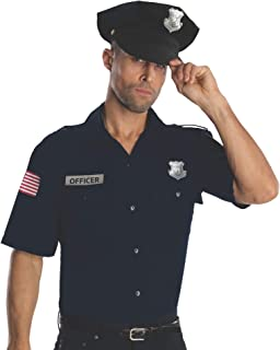 Costume Heroes And Hombres Police Uniform Shirt And Hat Costume