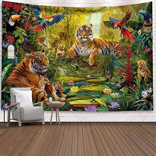 MSHAQT Tapiz Tigre Lindo Colcha Animal Colgante De Pared Toalla De Playa Sala De Estar Dormitorio Regalo De Decoración Interior 175 Cm * 230 Cm