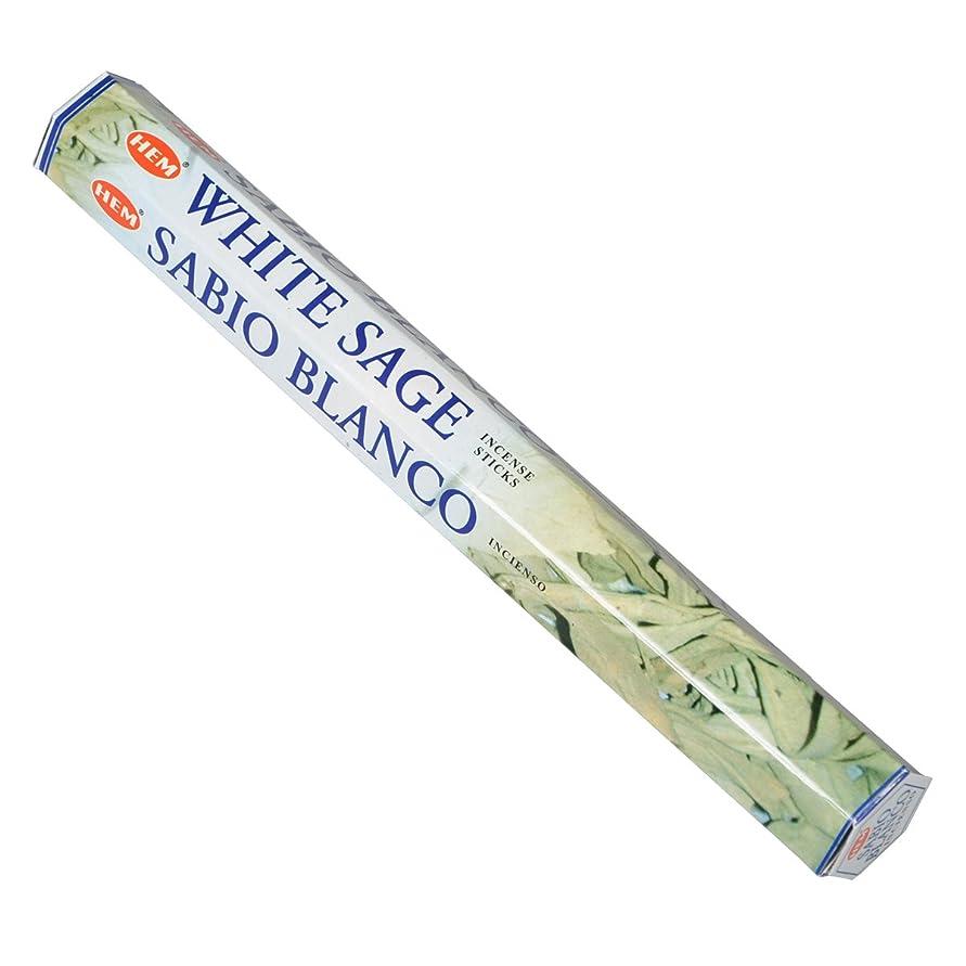 予測しっとり休暇HEM(ヘム) ホワイト セージ WHITE SAGE スティックタイプ お香 1筒 単品 [並行輸入品]