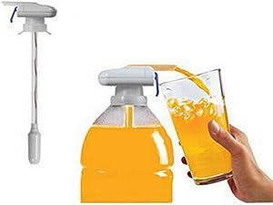 Drink Dispenser Magic Electric Pumping Tap for Fridge Iced Beverage Milk Gallon Juice Spill-Proof Bottle Spout (30cm/11.8