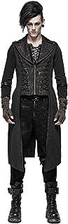 Punk Rave Men's Steampunk Retro Long Vest Gothic Vintage Tailcoat Waistcoat