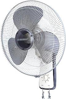 QFFL Ventilador de Pared,Ventilador de Pared con Cabeza Móvil, Dormitorio/Oficina/Restaurante, el Tono de Luz es Más Duradero, Control Dual por Cable (Color : White)