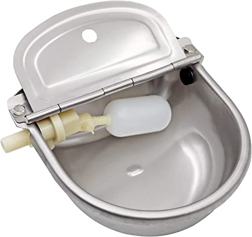 Stainless Steel Automatic Waterer Bowl Horse Cattle Goat Sheep Pig Dog Float Valve Water Trough Farm Supplies Livesto...