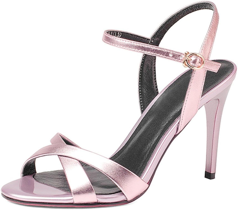 Frauen Sommer Schuhe Mit Hohen Absätzen Sandalen Peep Toe Schnallen Slingback Dress Court Schuhe Abend Party Prom Sandalen  | Fuxin