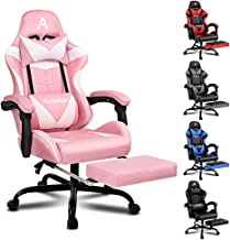ALFORDSON Gaming Chair Racing Chair Executive Sport Ergonomic Office Chair with Footrest PU Leather Armrest Headrest Home ...