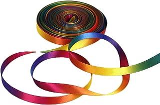 Satin Ribbon Gradient Rainbow Double Side Rainbow Colorful Printed 50 Yard 3/8