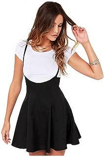 Ninasill Women Dress, ღ ღ ! Fashion Black Skirt with Shoulder Straps Pleated Dress T-Shirt Skirt Blouse Tops