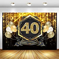 パーティーの背景の壁の装飾写真の誕生日をテーマにしたハッピー40歳の誕生日の背景ゴールデンフラッシュボケ写真の背景50歳の誕生日パーティーのバルーン装飾バナー背景