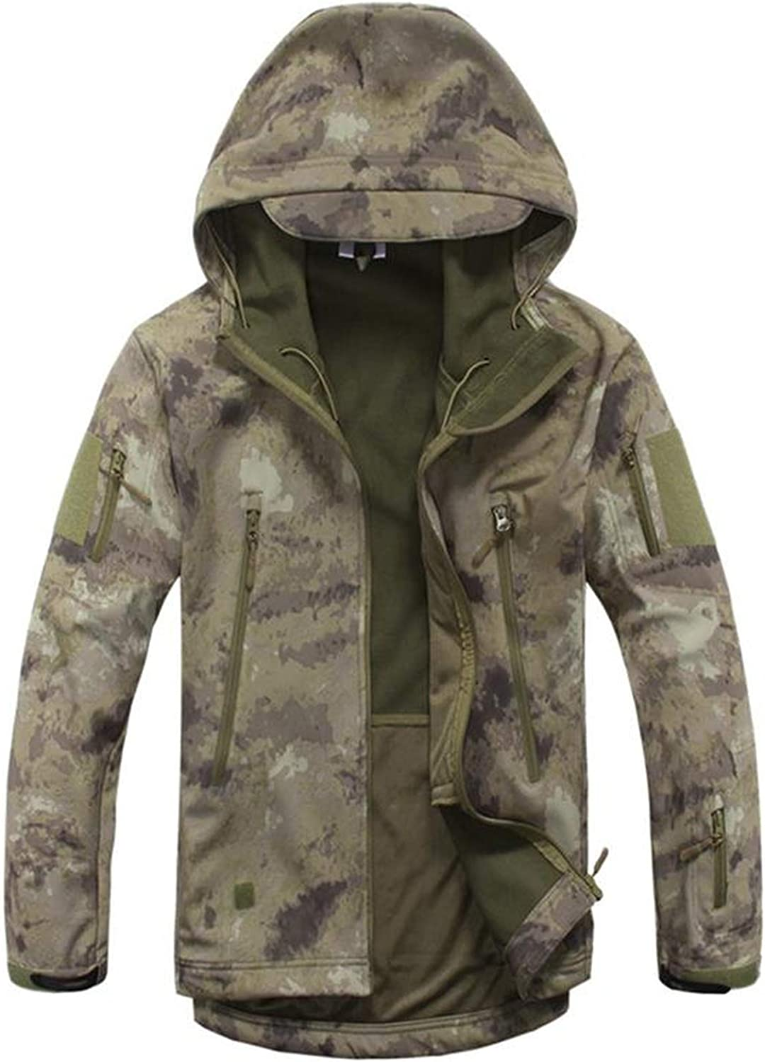 Fairyforest Camouflage Military Tactical Jacket Soft Shell Waterproof Hunt Jacket Raincoat,Attack,XXXL