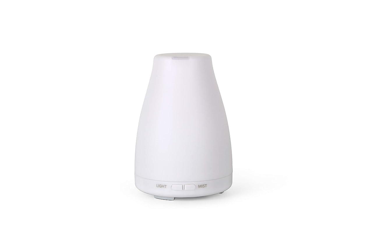 最初割合訴えるアロマディフューザーGA101-W 加湿器 日本語取扱説明書 超音波式 7色LEDライト 空焚き防止