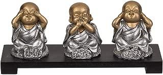 ootb 3 Figuras de poliresina en un tazón de Madera, Buda,