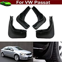 New 4pcs Black Color Front + Rear Car Mud Flaps Mudflaps Mud Guards Mudguard Splash Guard Fender Pretector Custom Fit for Volkswagen VW Passat 2011 2012 2013 2014 2015 2016 2017 2018 2019