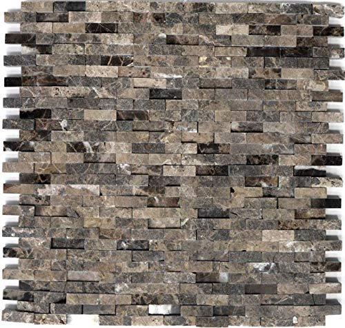 Marrone chiaro Marmo naturale Tessere di mosaico mattone