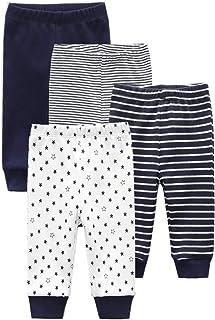 Kiddiezoom Lot de 4 pantalons de jogging unisexes pour bébé