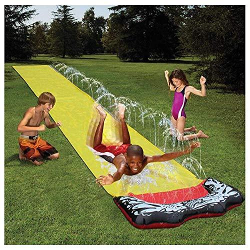 AJH Summer Garden Water Spray Toy Kids Tobogán acuático Césped al AIRE Libre Spray de Agua Slide Bed Spray Sprinker Pool Toddler Boys Girls Party Sprinkler Toy (480 X 70 CM)